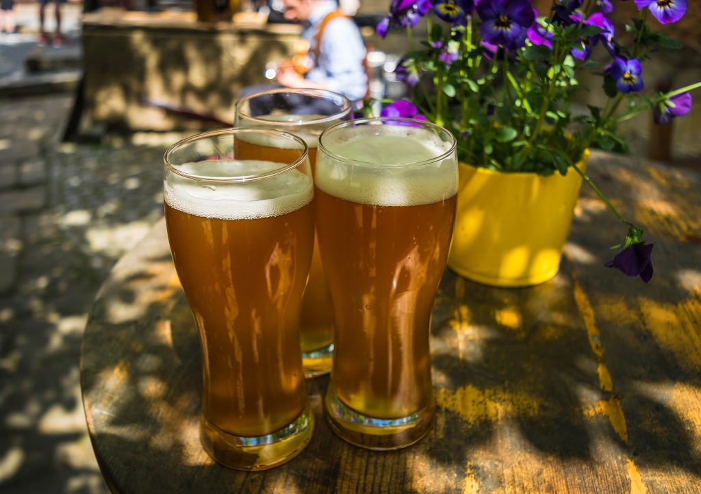 Enjoy a cold, specialty beer while relaxing on the patio of Lenoir.